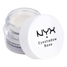 NYX Professional Makeup Eyeshadow Base - Maximizes the intensity, longevity and brilliance of your shadow. White Eyeshadow, Pigment Eyeshadow, Eyeshadow Primer, Makeup Primer, Eyeshadow Makeup, Lipstick Dupes, Primer Cosmetics, Cleansing Oil, Facial Cleansing