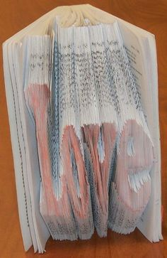 How to fold pages of an old book to show a word   Make It @ Your Library