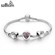 Heart Charm Chain Bracelet
