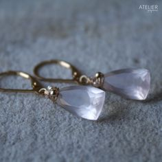Rose Quarts Earrings by ATELIER Gaby Marcos