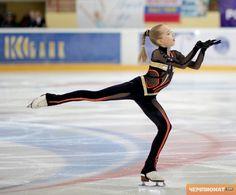 Elena Radionova - Black Figure Skating / Ice Skating dress inspiration for Sk8 Gr8 Designs.