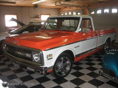 69 Chevy - Mine was dark blue with white wagon wheels! Wish I still had this truck.