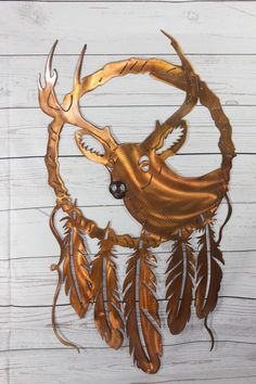 Deer Dream Catcher Series Metal Wall Art
