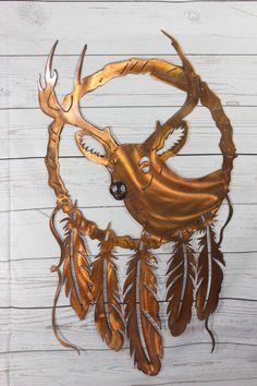 Deer Dream Catcher Series Metal Wall Art