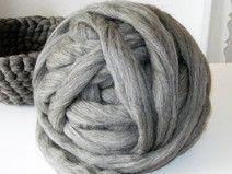 Spinnband-Kammzug grau 500 g