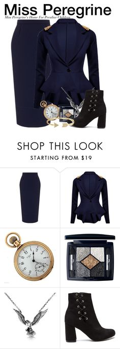 """Miss Peregrine - Miss Peregrine's Home For Peculiar Children"" by nerd-ville ❤ liked on Polyvore featuring Roland Mouret, Christian Dior, Hjälte Jewellery and Bling Jewelry"