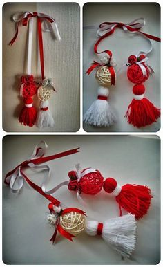Handmade Cristina: Martisoare 2015 mari (pentru gradi sau oficiu) Baba Marta, 8 Martie, Yule, Diy And Crafts, Drop Earrings, Traditional, Christmas Ornaments, Knitting, Holiday Decor