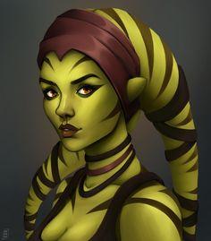 Star Wars Characters Pictures, Star Wars Pictures, Star Wars Games, Star Wars Rpg, Star Wars Concept Art, Star Wars Fan Art, Chica Alien, Alien Female, Star Wars Species