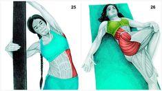 Heilsame Dehnübungen: Diese 34 Bilder zeigen dir, welchen Muskel du dehnst - ☼ ✿ ☺ Informationen und Inspirationen für ein Bewusstes, Veganes und (F)rohes Leben ☺ ✿ ☼
