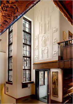 Edgar Miller ArchitectDesignerCraftsman Entrance Of The R Glasner Studio Built For Industrialist Rudolph House Is Considered Millers