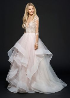Lorelei (6654) gown from the 2016 Hayley Paige collection, as seen on…