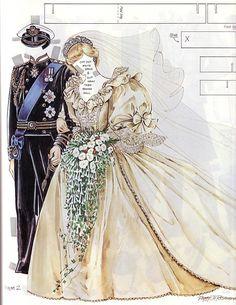 A a royal romance Paper Dolls Clothing, Barbie Paper Dolls, Vintage Paper Dolls, Royal Paper, Paper Dolls Printable, Bobe, Dress Up Dolls, Kewpie, Paper Toys