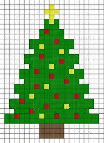 Christmas Perler Beads, Cross Stitch Christmas Ornaments, Xmas Cross Stitch, Christmas Cross, Cross Stitch Embroidery, Christmas Tree, Christmas Patterns, Fuse Bead Patterns, Beading Patterns