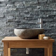 Use Black Quartzite Maxi Splitface Tiles to add beautiful texture to walls. These stone wall tiles are easy to fix into interlocking panels. Master Bathroom Shower, Stone Bathroom, Shower Walls, Bathroom Ideas, Outdoor Stone, Outdoor Tiles, Stone Sink, Stone Tiles, Stone Texture Wall