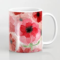 Buy Pressed Poppy Blossom Pattern Coffee Mug by originalaufnahme. Worldwide shipping available at Society6.com. Just one of millions of high quality products available. Meet The Artist, Drinkware, Poppy, Coffee Mugs, Ceramics, Tableware, Artwork, Pattern, Design
