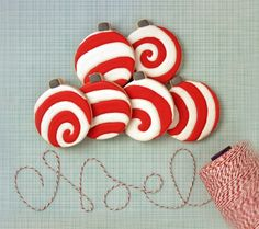 Christmas Swirl Ornament Cookies Tutorial{click link for FULL tutorial}