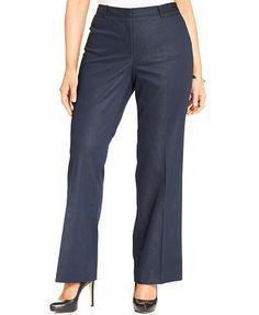 Jones New York Signature Plus Size Bootcut Trousers