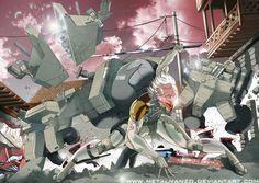 Metal Gear Solid 4 Art Raiden by_MetalHanzo