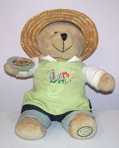 """Starbucks Bearista Bear Gardener 8"""" 2006 47th Edition Plush EUC"""
