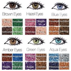 The best pigments to compliment your eye color.: