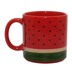 Caneca Melancia pra adora melancia Cute Coffee Mugs, Cool Mugs, Coffee Cups, National Watermelon Day, Pottery Painting Designs, Mug Cup, Tea Pots, Decoration, Utensils