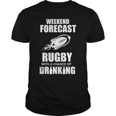 RUGBY WITH A CHANCE OF DRINKING T-Shirts, Hoodies. GET IT ==► Funny Tee Shirts