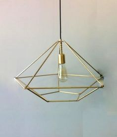 JEWEL 2 Handmade Pendant Light Chandelier Edison Restoration Industrial style minimal geometric chandelier