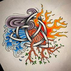 """Résultat de recherche d'images pour """"four elements tattoo """""""