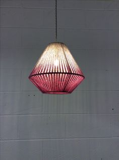 XS geometric pink dip dye Janie knitted textiles Home Crafts, Diy Home Decor, Dip Dye, Lamp Shades, Uganda, Beetle, Lamp Light, Lighting Design, Lightning