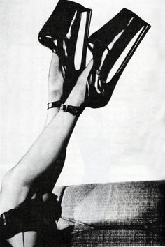 """1950s fetish heels....and now the """"new"""" style. nothing is really ever new...."""