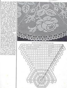 Kira scheme crochet: Scheme crochet no. Crochet Chart, Thread Crochet, Crochet Motif, Crochet Designs, Crochet Lace, Crochet Dollies, Cute Crochet, Doily Patterns, Crochet Patterns