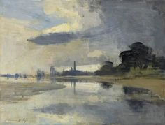 Edward Seago   Storm Clouds over Yarmouth