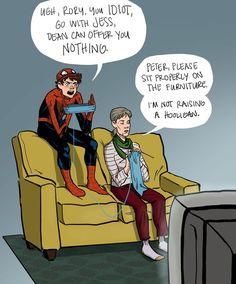 Hannah Blumenreich's Spider-Man fan comics take place in the missing moments between supervillain battles, focusing on everyday scenes like Peter Parker watching Gilmore Girls with Aunt May, or playing basketball with some local kids.