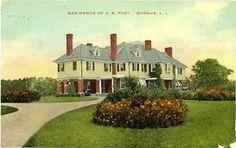 'Winnecomac', the Abram Skidmore Post residence designed by Woodruff Leeming c. 1908.