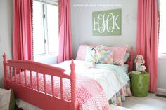 pink big girl room, maybe not so bright?