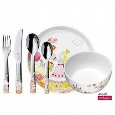 Children's dinnerware with children's cutlery, 6 pieces American Breakfast, Breakfast Set, Cutlery Set, Muesli, Cereal Bowls, Unique Colors, Safe Food, Dinnerware, Baby Gifts