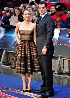 Co-star: Henry appeared in the interview with his co-star Amy Adams who plays Lois Lane