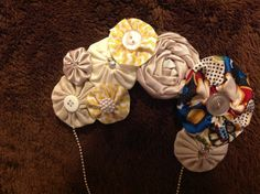 Fabric and ribbon necklace by ForAllGirls on Etsy, $15.00