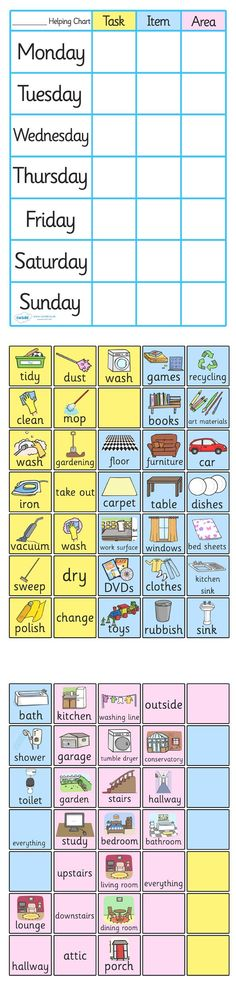 Free printable chore charts for kids free responsibility for A bathroom item that starts with p