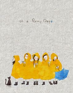 """Free ebook - teach """"on a rainy day"""" then have students compose own version of song inspired by this book."""