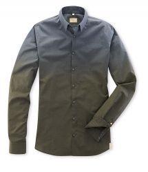 Q1 Hemd Casual Premiumhemd in Dégradé Farbverlauf in 100% Baumwolle Slim Fit, Shirt Dress, Mens Tops, Shirts, Shopping, Dresses, Fashion, Fall Winter, Vestidos
