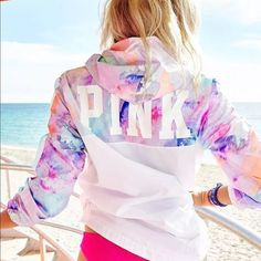 VS Pink anorak marble pastel Victoria secret windbreaker anorak jacket. Size m/l. Brand new. Very popular color sold out online. Since posh takes a % off price firm No trades  PINK Victoria's Secret Jackets & Coats