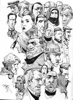 Scotch Corner: Sketchbook: Heids.