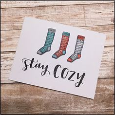 I love the Cozy Up stamp set from Concord & 9th! I really love it!