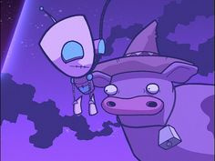 Invader Zim / gir and cow