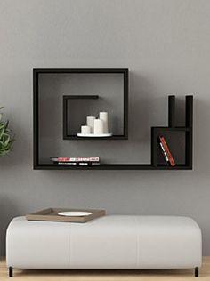 Decortie by Homemania Wall Shelf Decor, Wall Shelves Design, Small Room Design Bedroom, Minimal House Design, Tv Unit Decor, Earthy Home Decor, Niche Design, Diy Room Divider, Decor Interior Design