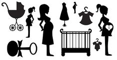FREE SVG babies pregnancy mum to be cot rattle pram onsie baby KLDezign les SVG