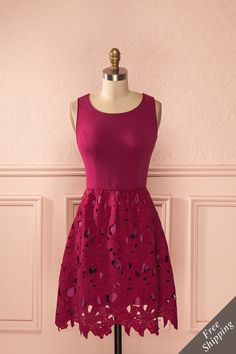 Robe couleur rose framboise