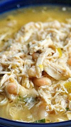 This White Chicken Chili recipe makes a delicious meal full of spicy chili flavor, chicken and white beans. You'll love the ease of this stovetop, slow cooker and Instant Pot White Chicken Chili! Chili Recipes, Crockpot Recipes, Soup Recipes, Chicken Recipes, Cooking Recipes, Cooking Games, Cooking Classes, White Chicken Chilli, Crockpot White Chicken Chili
