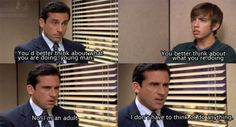 For seven seasons, Michael Scott led The Office proudly, inappropriately and without common sense. Here are 82 reasons why Michael Scott was the World's Best Boss. Office Jokes, The Office Show, Worlds Best Boss, Paper People, Michael Scott, Parks N Rec, I Love To Laugh, Awkward Moments, Best Shows Ever